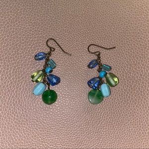 Blue and Green Bead Earrings!